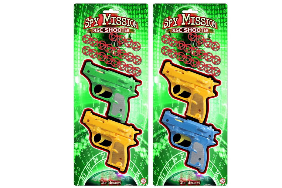 "2pc Disc Shooter - 2 Assorted Colours ""Spy Mission"""