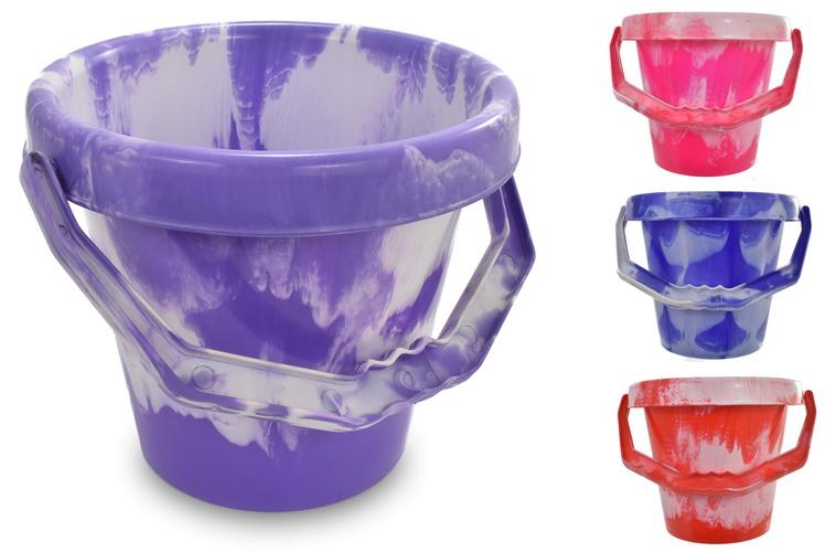 "18cm/7"" Large Round Marble Bucket"