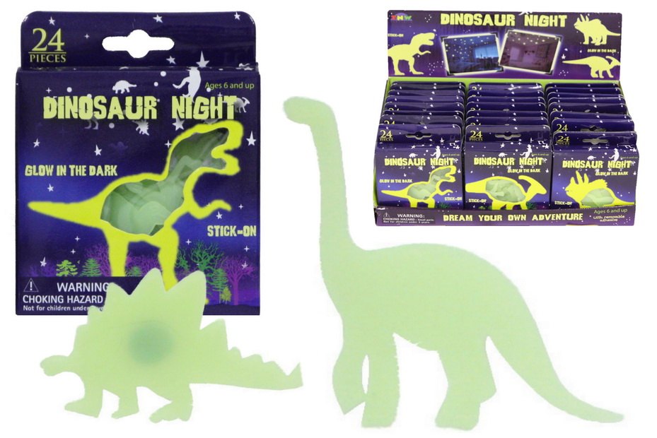 Glow In The Dark Dinosaurs In Window Box / Disp Box