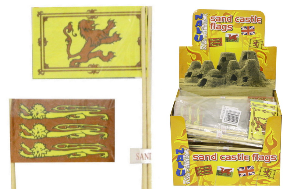 """Sand Castle Flags - Pack Of 4 Assorted - """"Nalu"""""""