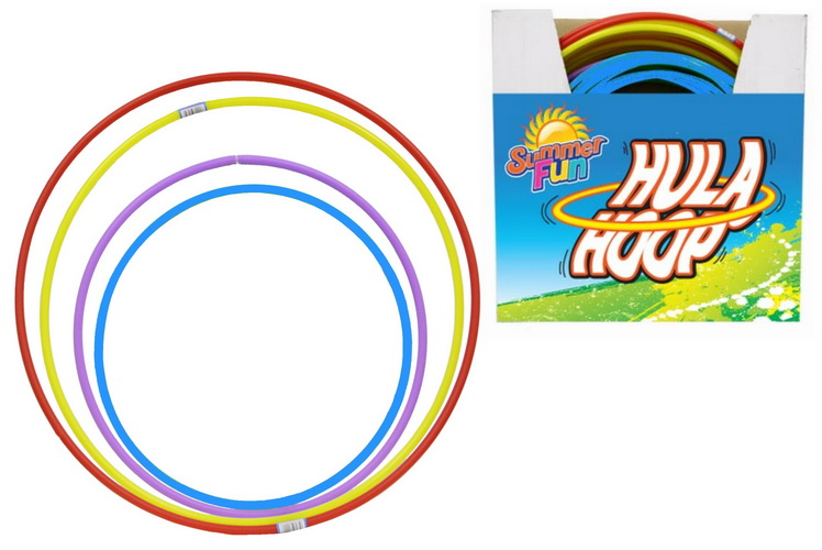 Solid Colour Hula Hoop (4 Asst Colour & Sizes) In Pdq