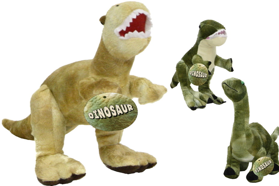 Plush Dinosaur - 3 Assorted