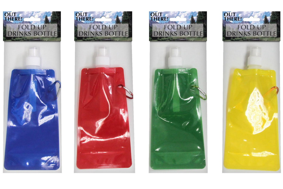 Fold Up Drinks Bottle - 4 Assorted Colours