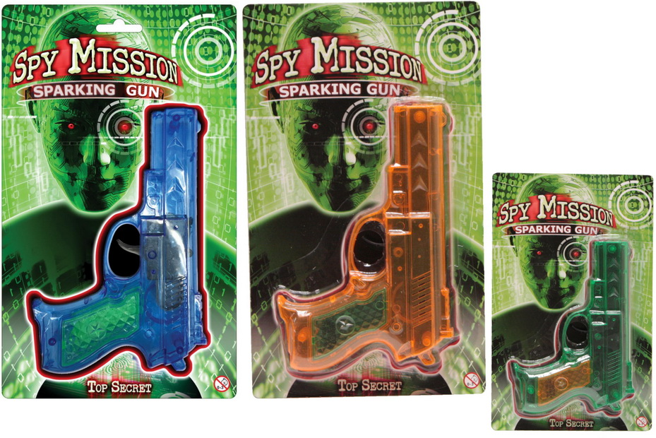 "Sparking Gun On Blistercard - 2 Assorted ""Spy Mission"""