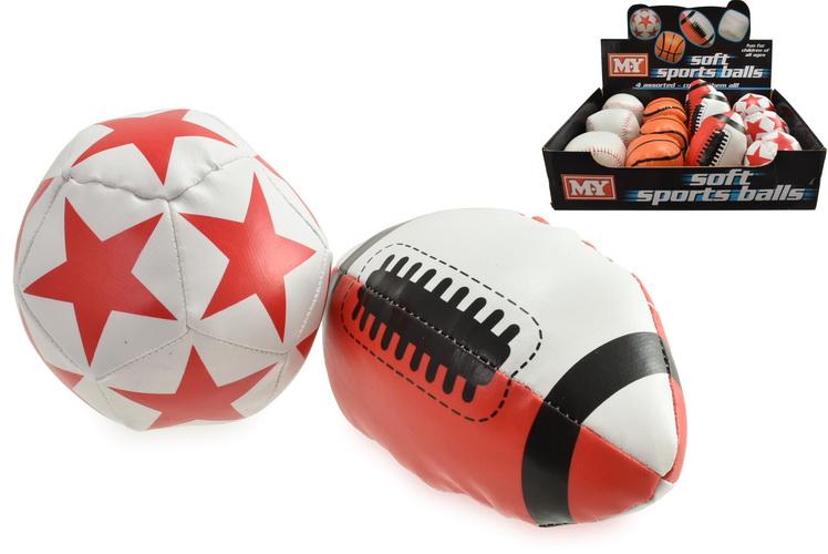 """Mini Fun Pvc Balls In Display Box - 4 Assorted """"My"""""""