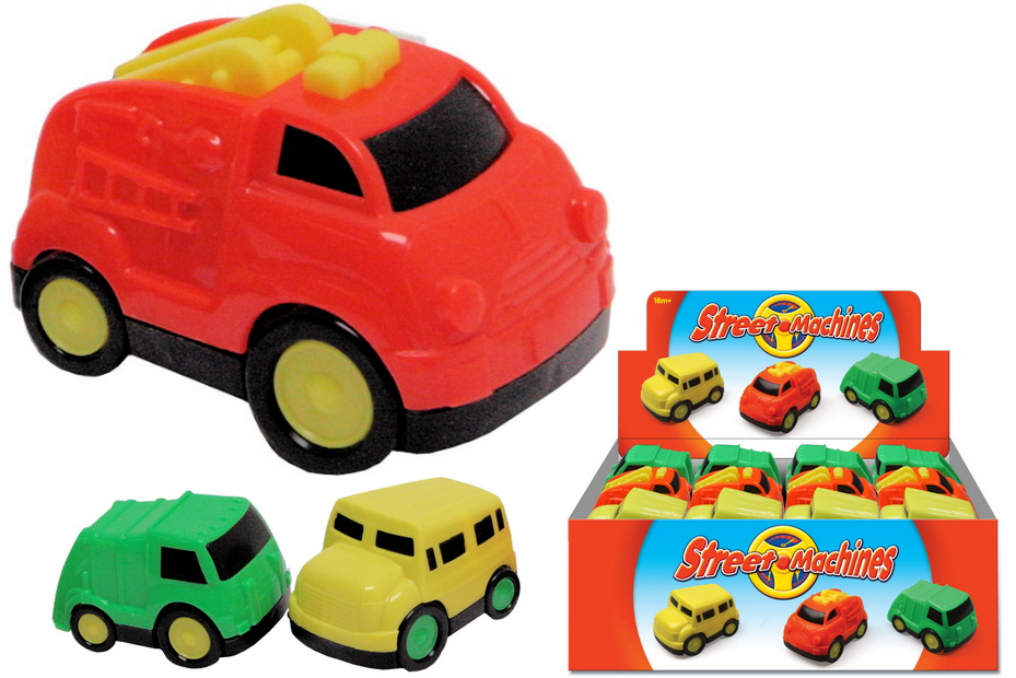 Plastic Freewheel Car (3 Assorted) In Display Box