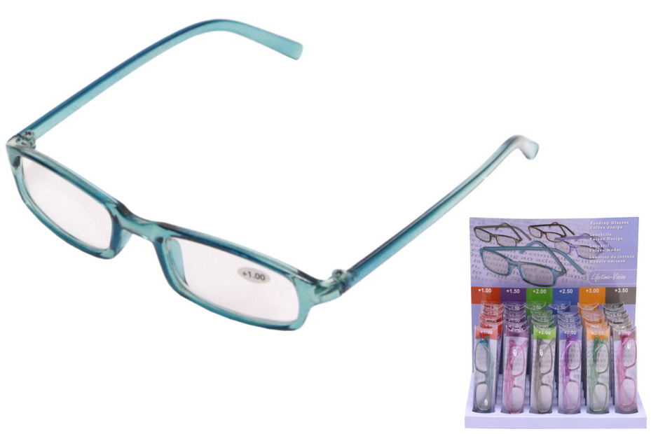 Unisex Reading Glasses In Pvc Case / Display Tray