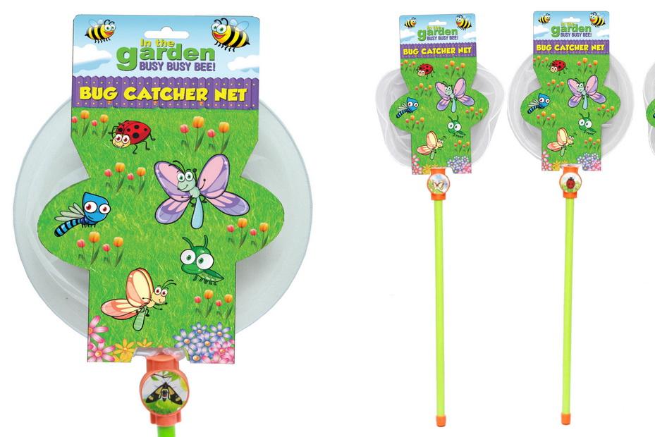 """Bug Catcher Net (3 Asst) On Hangcard """"In The Garden"""""""