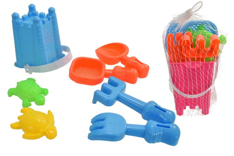 "7pc Square Castle Bucket Set (2 Assorted Colour) ""Nalu"""