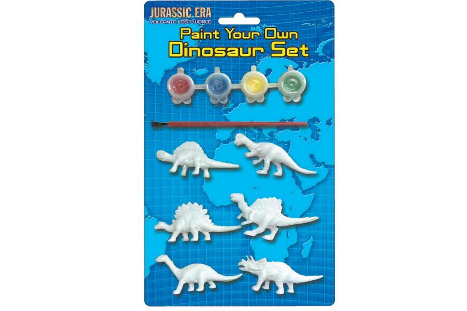 "Paint Your Own Dinosaur Set On Blistercard ""Jurassic"""