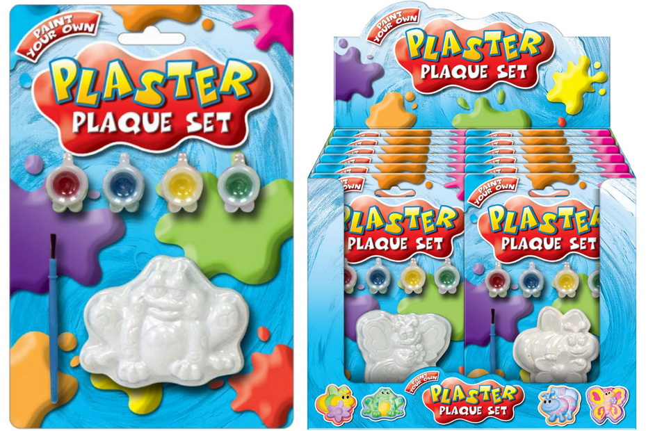 Paint Your Own Animal Plaster Mould (4 Asst) In Display