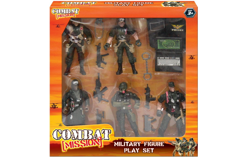 "Military Figure Playset In Window Box ""Combat Mission"""