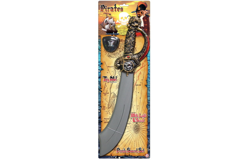 """Pirate Sword With """"Try Me"""" Sound & Light """"Pirates"""""""