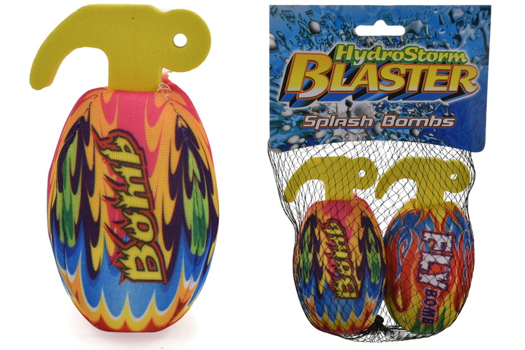 "2pc Hand Grenade Splash Ball In Net Bag/Header ""Hydro"""