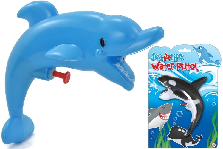 Sealife Water Pistol (3 Assorted) On Blistercard