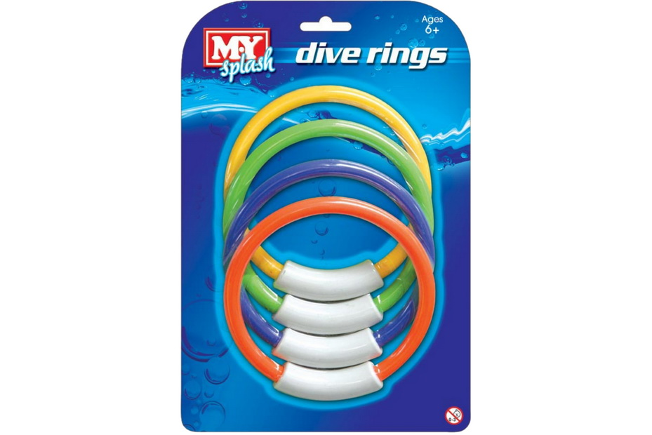 "4pc Dive Rings On Blistercard ""M.Y"""