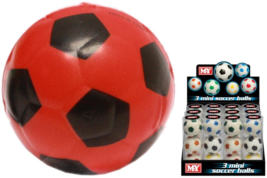 "3pc Pu Ball 63mm Soccer Style (6 Asst) Acetate Tub""M.Y"""