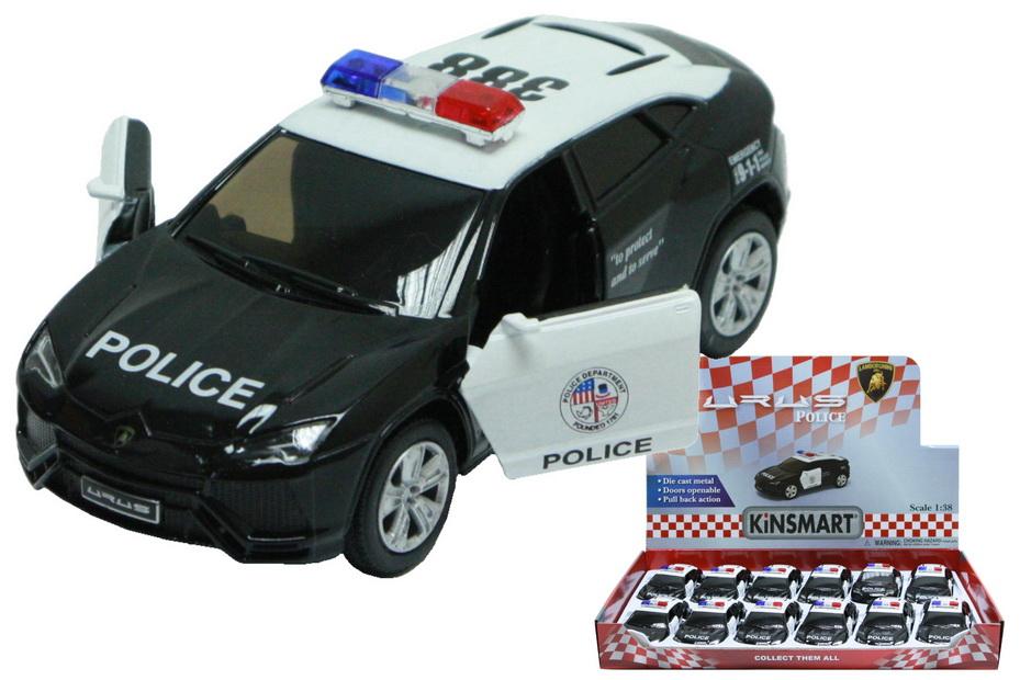 Lamborghini Urus Police Die Cast Car 1:38sc In Disp Bx