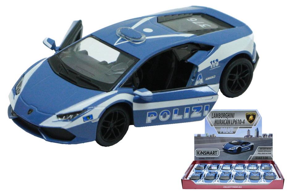 Lamborghini Huracan Police Car Die Cast 1:36sc In Dbx