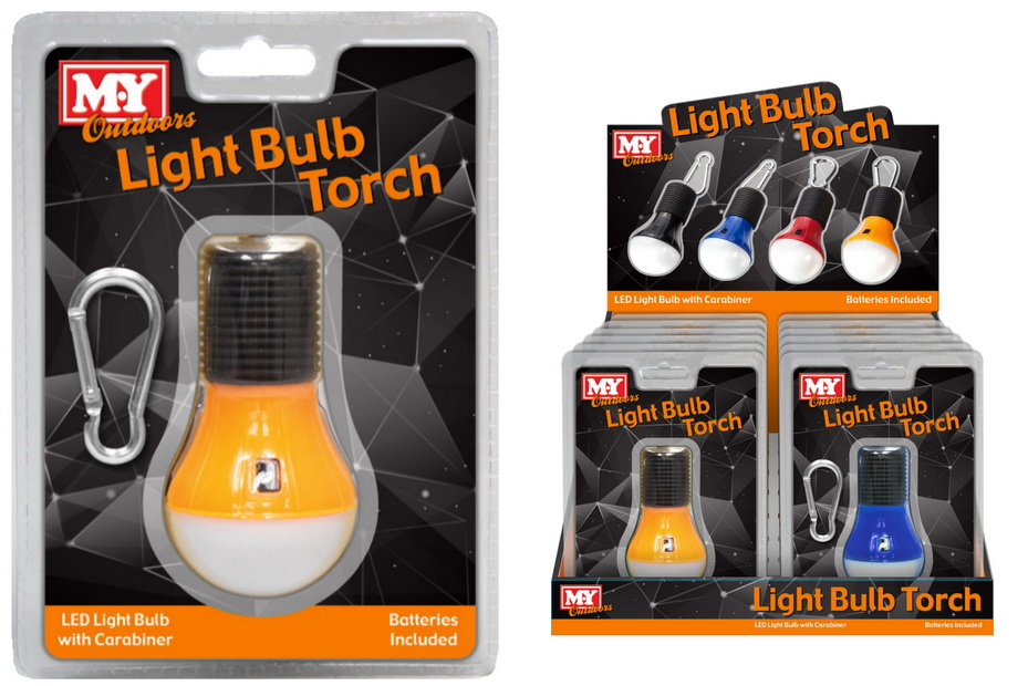 Camping Bulb Light With Battery In Clamshell/Display Bx