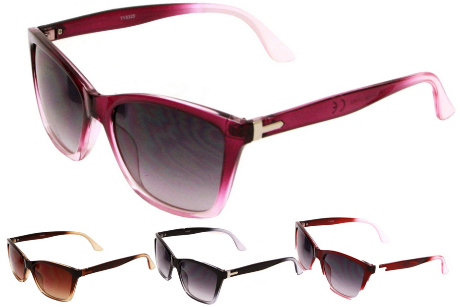Adult Plastic Frame Designer Sunglasses - 4 Assorted