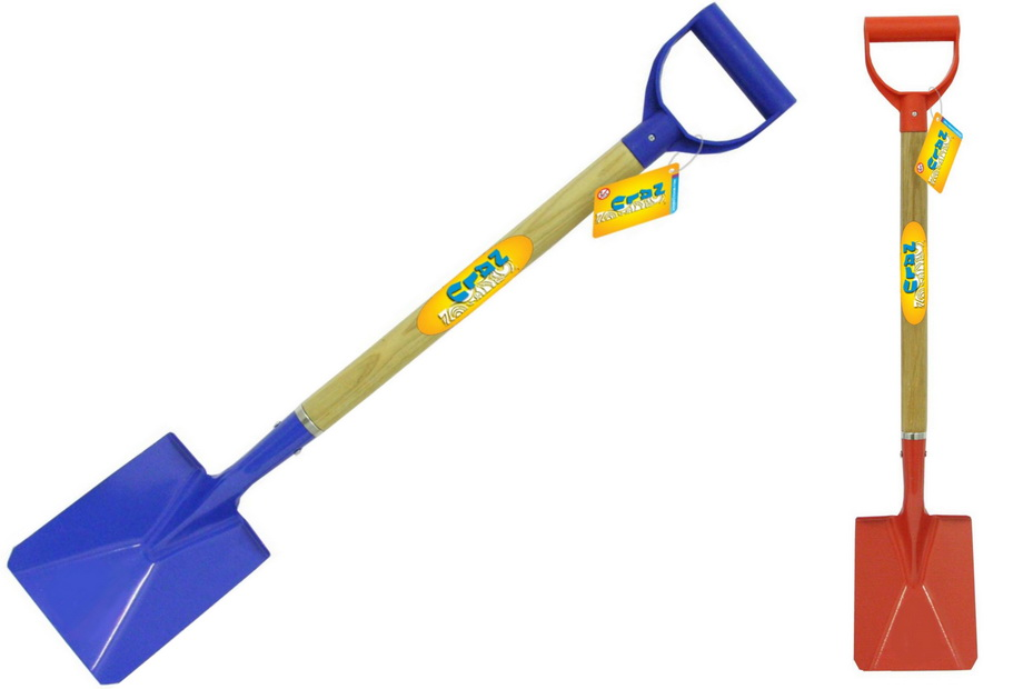 "78cm/31"" Metal Spade - Wood Shaft - Plastic Handle"