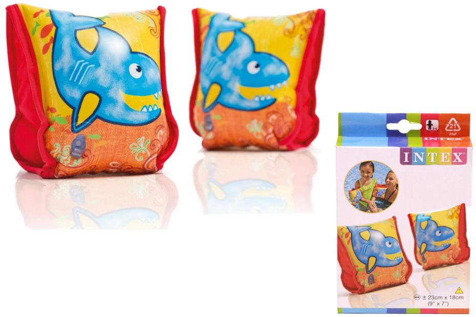"""Aqua Arm Bands 9"""" x 7"""" (Ages 3-6 Years) In Peg Box"""