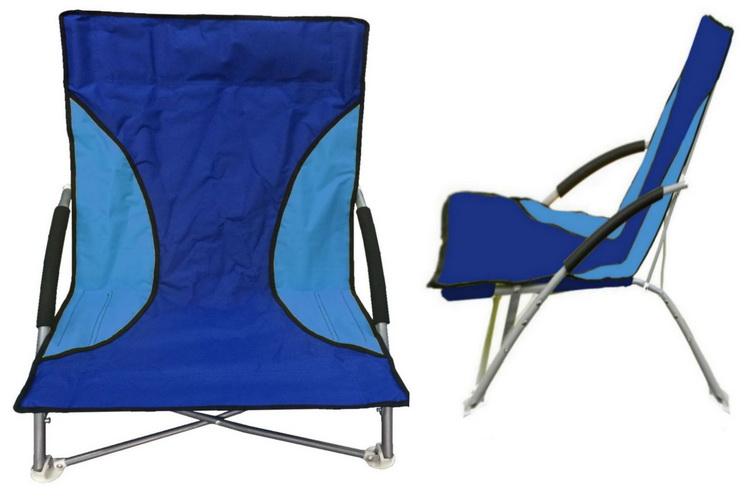 "Folding Beach Chair With Foam Arms - Blue/Blue - ""Nalu"""