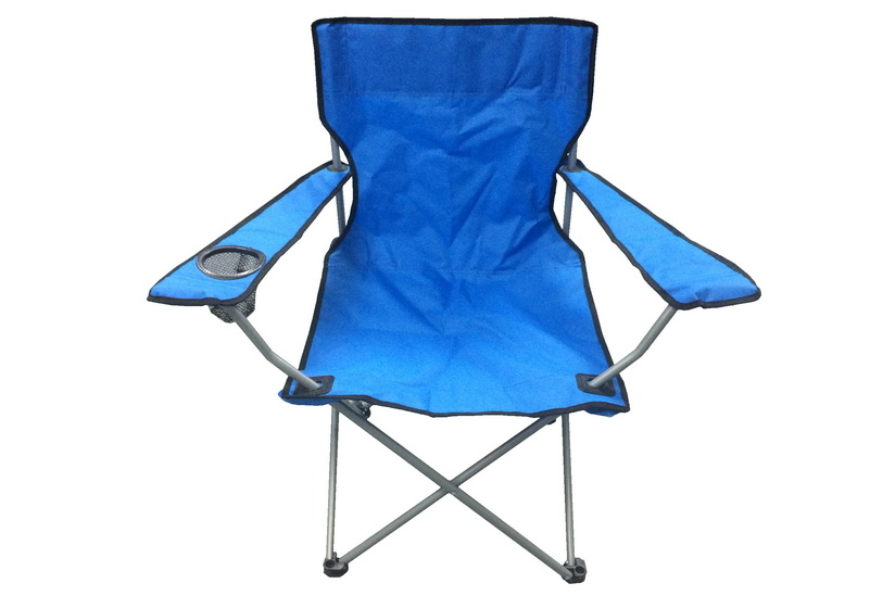 Blue & Black Captains Chair With Cup Holder