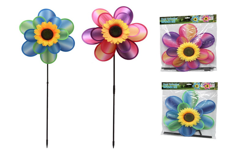Tie Dye Windmill - Dual Spinning (2 Asst) In Polybag
