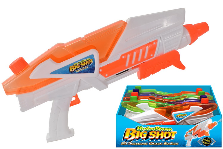 Pump Action Triggered Watergun (4 Asst) In Display Box