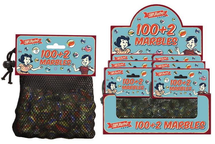 100+2 Marbles In Net Bag Headercard / Display Box
