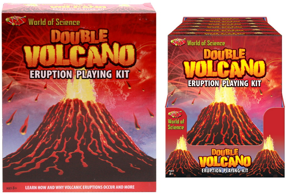 Double Volcano Eruption Play Kit In Colour Box / Pdq