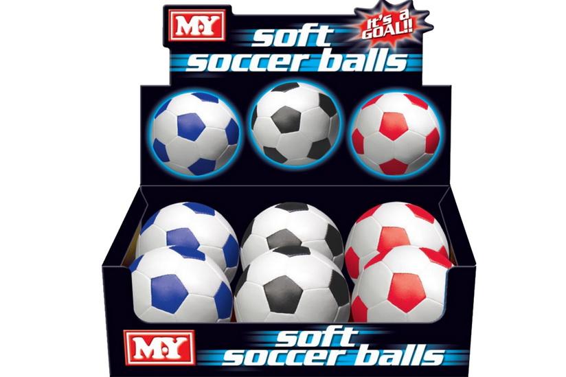 "6"" 32 Panel Pvc Soft Football In Display Box"