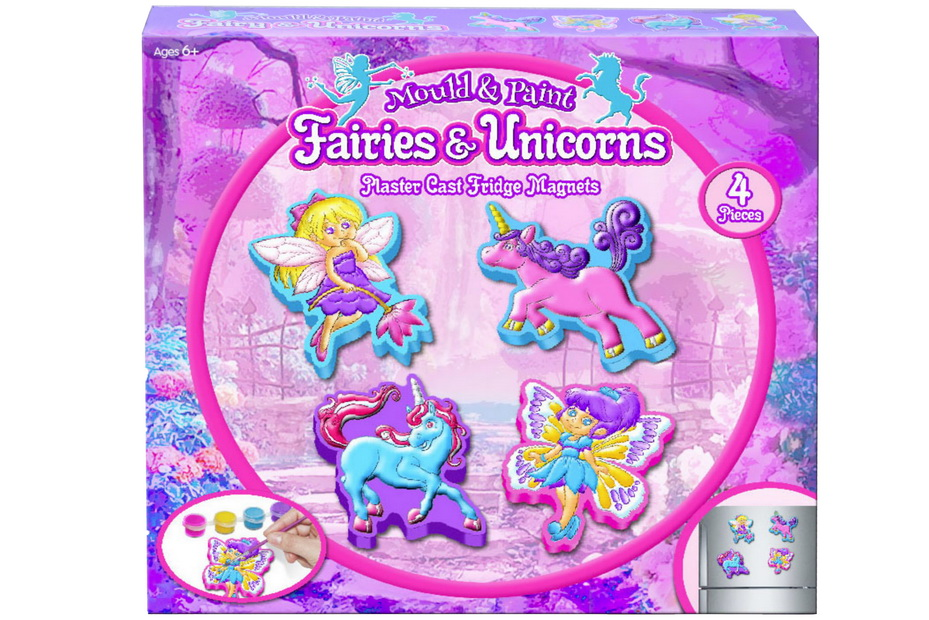 "Fairy & Unicorn Fridge Magnet Set ""Make Your Own"""