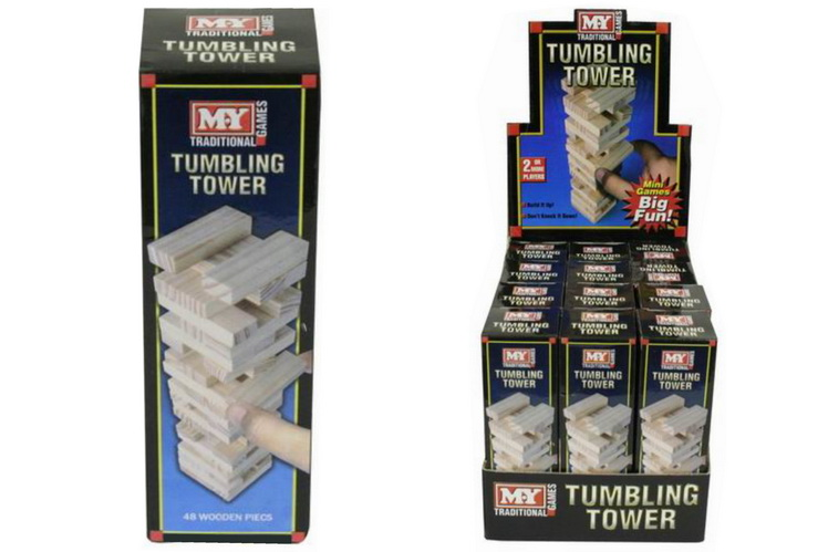"""Mini 48pc Wooden Tower Game In Display Box """"M.Y"""""""