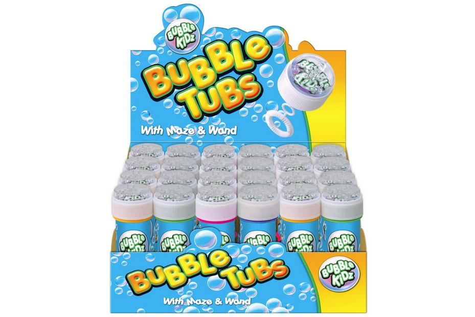 60ml Bubble Tub With Maze Lid & Wand In Display Box