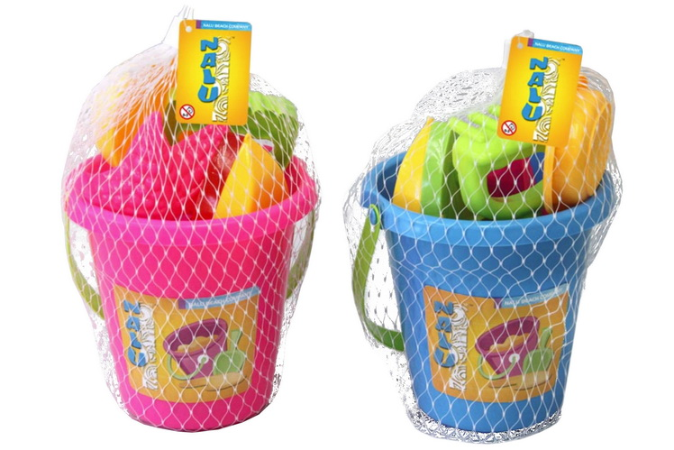 6pc Bucket Set With Boat In Net Bag