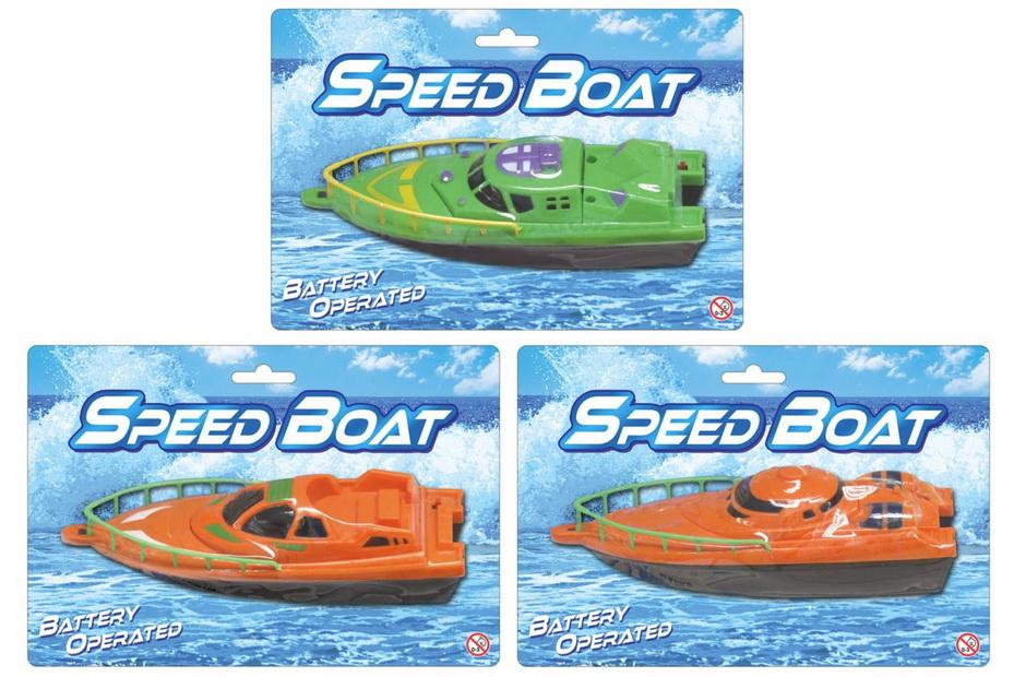 B/O Speedboats 3 Assorted On Blistercard