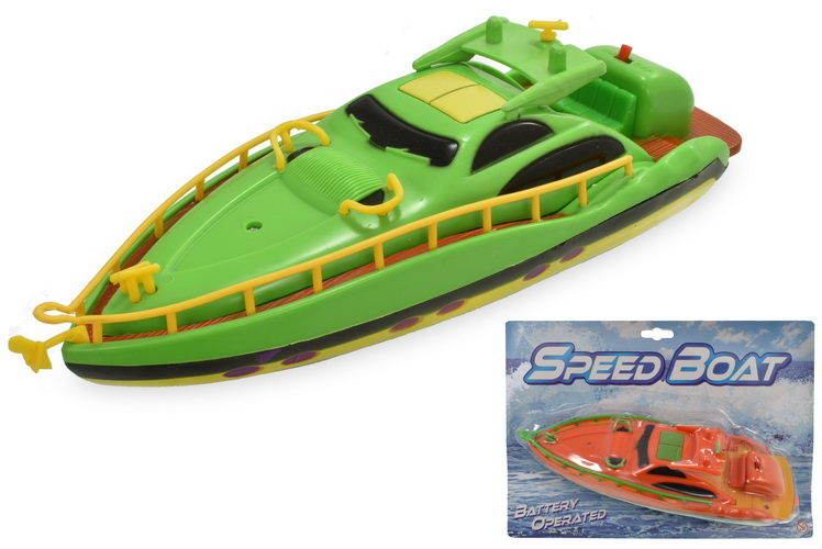 Large B/O Speedboats 2 Assorted On Blistercard
