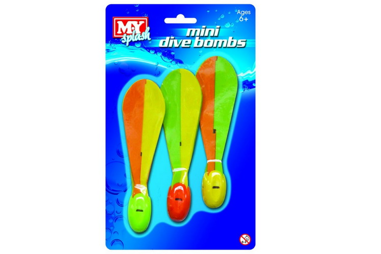"3pc Mini Dive Bombs ""M.Y"" On Blistercard"