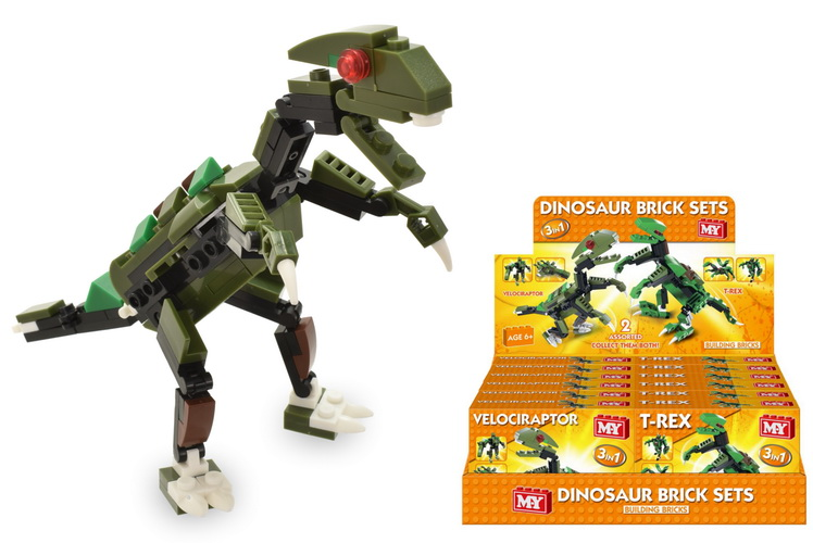 Dinosaur Brick Sets 2 Assorted In Display Box