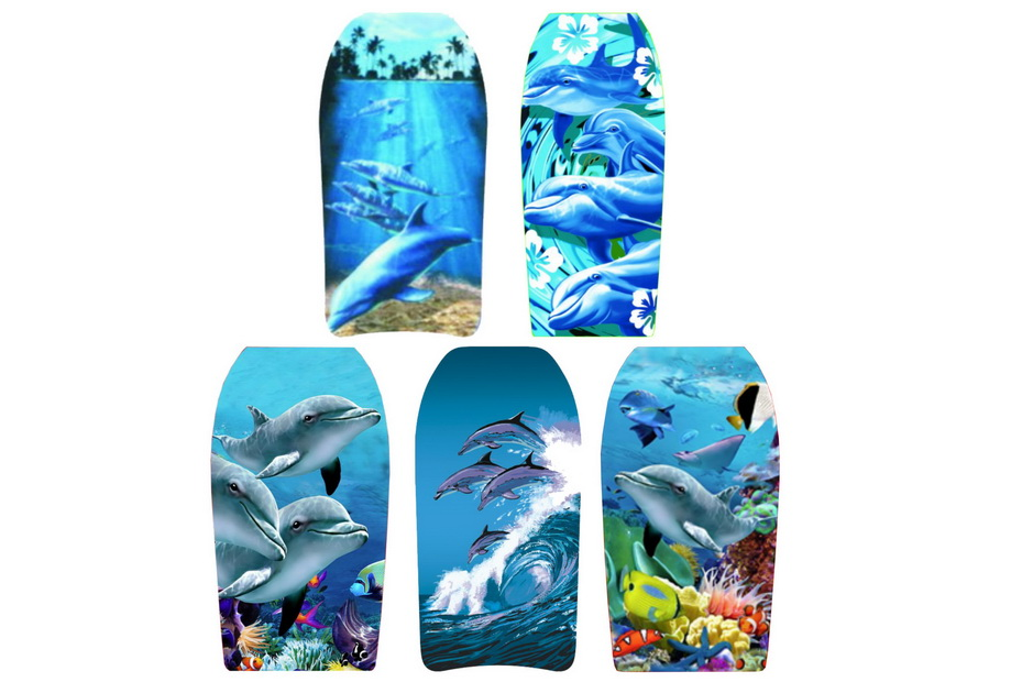 """33"""" Eps Bodyboards 5 Assorted Dolphin Designs"""