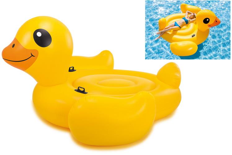 "Mega Yellow Duck Island 87"" x 87"" x 43"""