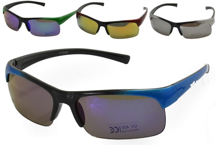 Kids Plastic Half Frame Sunglasses - 4 Assorted