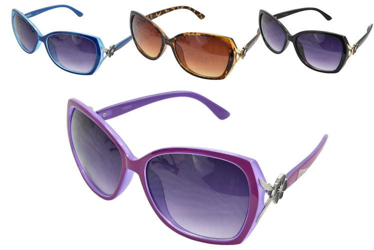 Ladies Large Lens Sunglasses - 4 Assorted