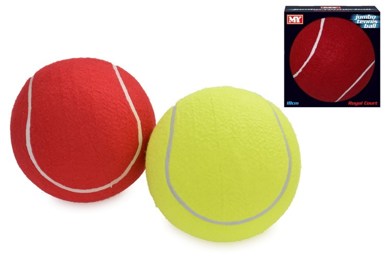 """Jumbo 7"""" Tennis Ball In Touch Box """"M.Y"""" 2 Asst Cols"""