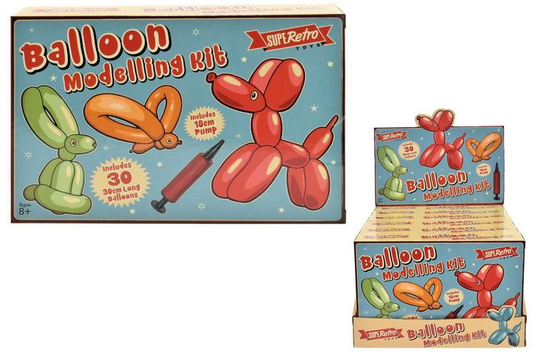 "30pc 30cm Balloon Modelling Kit - ""Retro"" Colour Box"