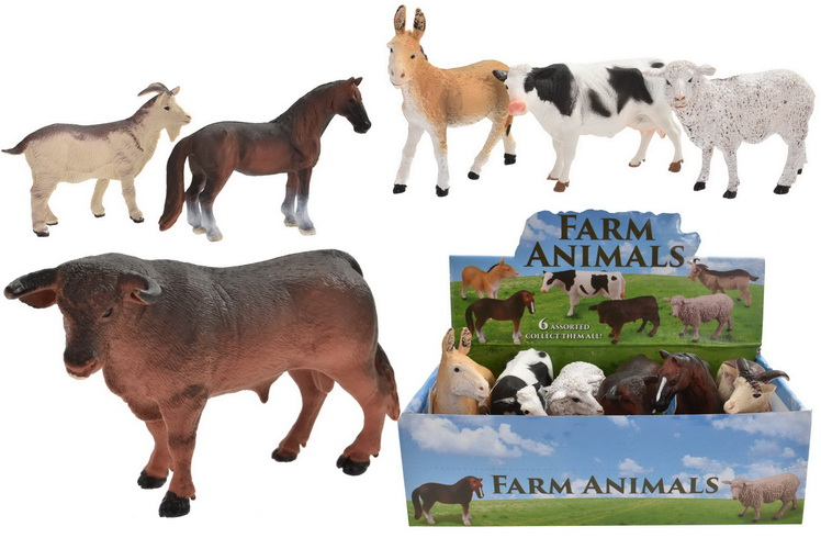 "5.5"" Farm Animals 6 Assorted In Display Box"