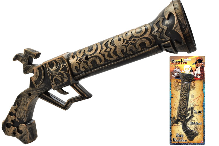 Pirate Blunderbuss With Sound On Tie Card